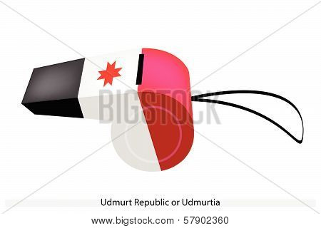 A Whistle Of The Udmurt Republic Flag