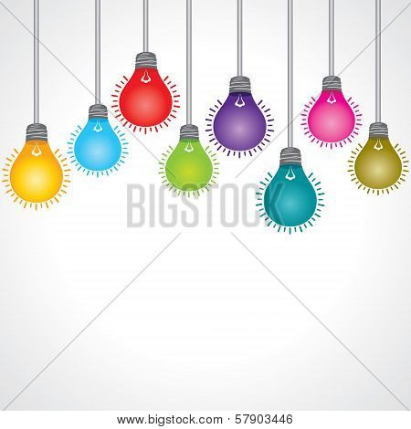 Colorful bulb background stock vector