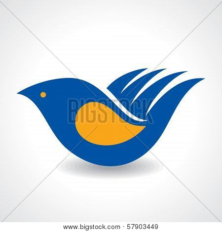 Creative Idea - Hand make a bird icon