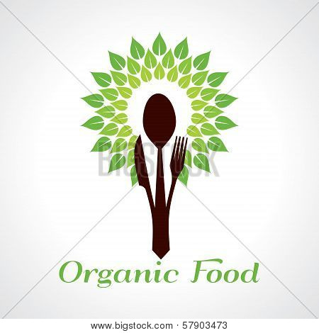Organic food concept stock vector