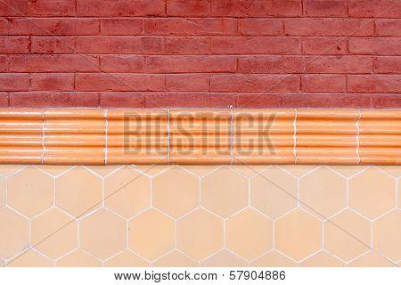 Wall Detail At Hospital De Sant Pau In Barcelona