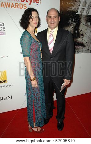 Linda Brettler and Matthew Weiner  at the Hollywood Life's 5th Annual Hollywood Style Awards. Pacific Design Center, West Hollywood, CA. 10-12-08