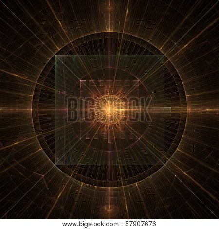 Stellar Clock Abstract Fractal Design