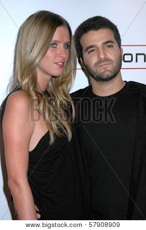 Nicky Hilton and David Katzenberg  at the Grand Reopening of The Hollywood Palladium. Hollywood Palladium, Hollywood, CA. 10-15-08