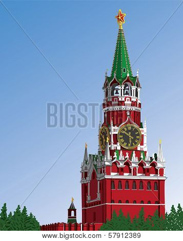 Moscow Kremlin.russia.iillustration