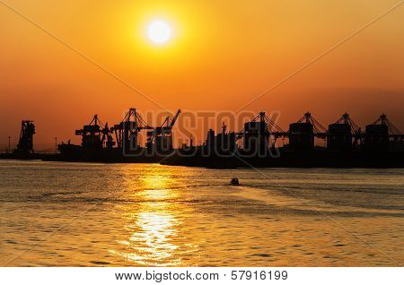 Commercial port in Taranto
