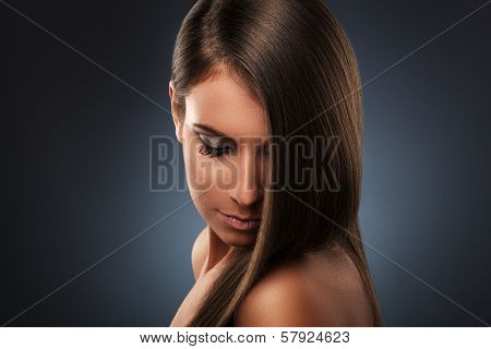 Young Woman With Beautiful Hair Style