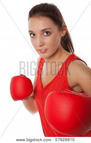 Pretty Girl Boxing