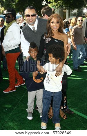 Keri Lewis with Toni Braxton and family  at the Los Angeles Premiere of 'Madagascar Escape 2 Africa'. Mann Village Theatre, Westwood, CA. 10-26-08