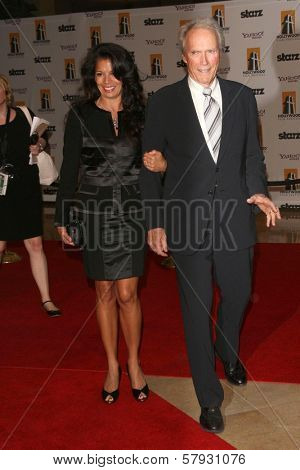 Dina Eastwood and Clint Eastwood  at the 12th Annual Hollywood Film Festival's Hollywood Awards Gala. Beverly Hilton Hotel, Beverly Hills, CA. 10-28-08