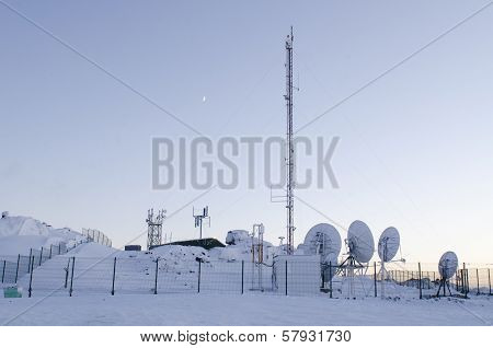 Moon Above The Arctic Cell Site