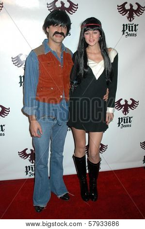 Alexander DiPersia and Caroline D'Amore  at the Pur Jeans Halloween Bash. STK, Los Angeles, CA. 10-31-08