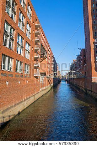 Channel in the Speicherstadt