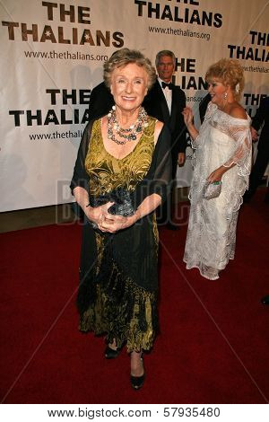Cloris Leachman  at the Thalians 53rd Anniversary Ball, honoring Clint Eastwood, to benefit  Cedars-Sinai Medical Center, Beverly Hilton Hotel, Beverly Hills, CA. 11-02-08