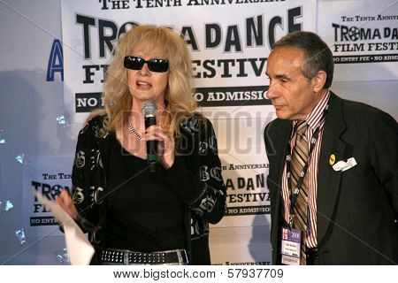 Penelope Spheeris and Lloyd Kaufman  at the Press Conference for the 10th Anniversary Troma Dance Film Festival. American Film Market, Lowes Santa Monica Beach Hotel, Santa Monica, CA. 11-06-08