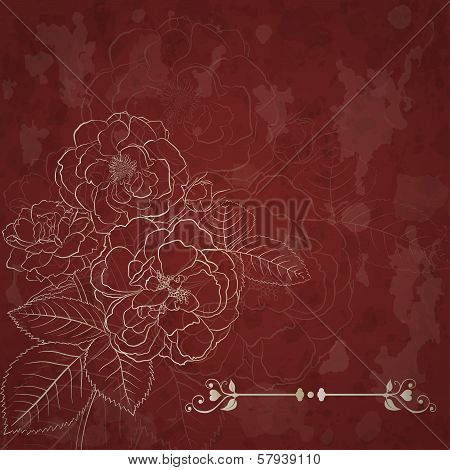 Background With Bouquet Of Roses