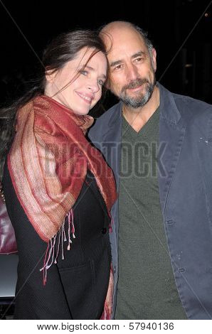 Sheila Kelley and Richard Schiff  at the 2008 AFI Film Festival Screening of 'Defiance'. Arclight Theater, Hollywood, CA. 11-09-08