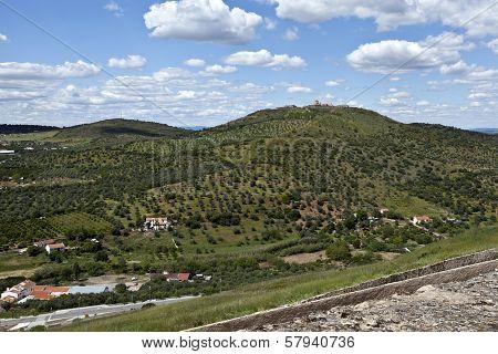 Elvas - View of Forte da Graca