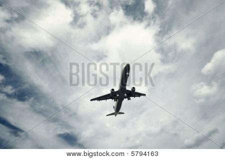 Passenger Airplane Taking Off