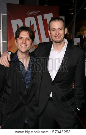Chris Williams and Byron Howard  at the World Premiere of 'Bolt'. El Capitan Theatre, Hollywood, CA. 11-17-08