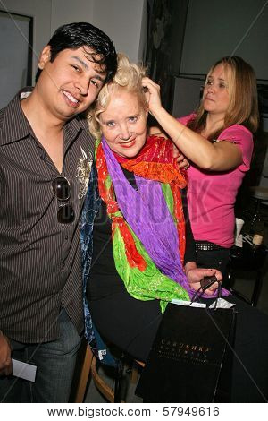 Paul Cruz and Sally Kirkland at an AMA Gifting Suite by ShoeDazzle.com, Gibson Guitars, Beverly Hills, CA 11-21-08