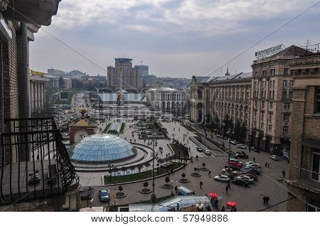 View Of Independence Square, Kiev