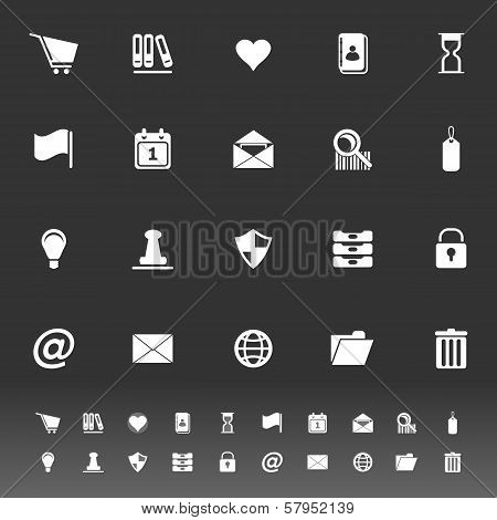 General Folder Icons On Gray Background