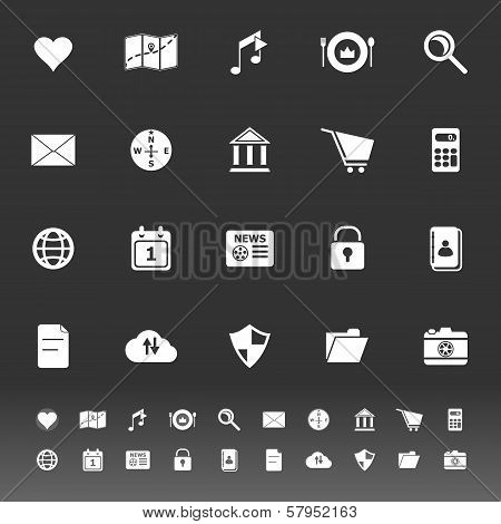 General Application Icons On Gray Background