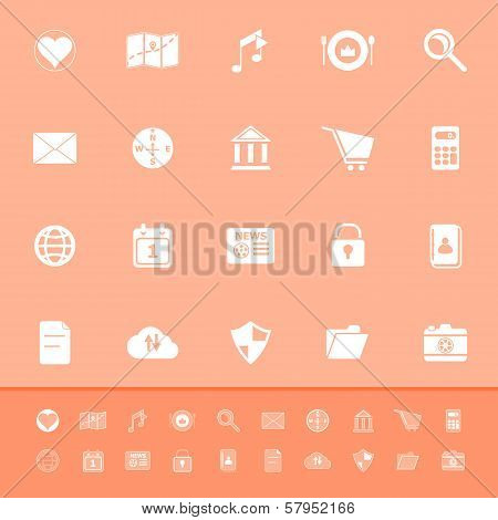 General Application Color Icons On Orange Background