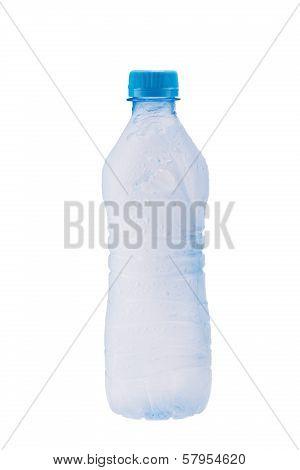 Misted plastic bottle