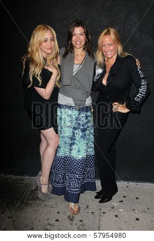 Jennifer Blanc, Caitlin Keats, Lorraine Ziff at the wrap party for the upcoming