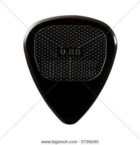 Black Ribbed Guitar Plectrum