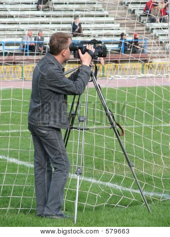 Cameraman On Soccer