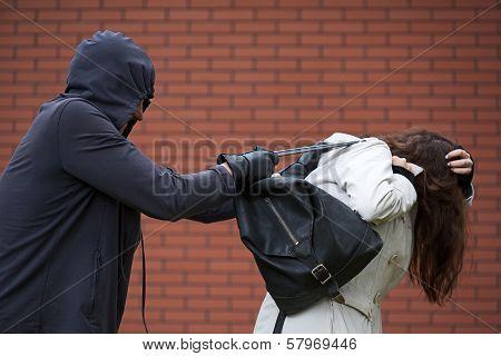 Student Girl In Danger