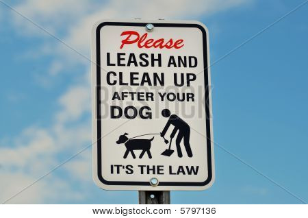 Outdoor Park Dog Sign