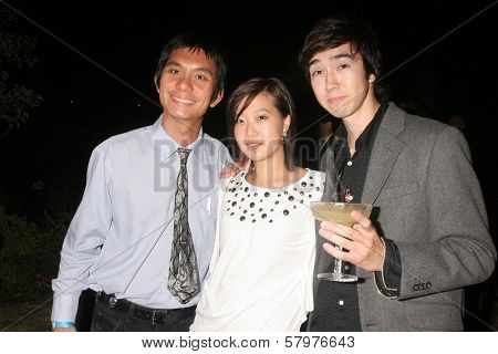 Tony Young with Sara Park and Andy Seri  at the 'Ten Nights Of Dreams' Afterparty Hosted By Cinema Epoch. Kyoto Grand Hotel and Gardens, Los Angeles, CA. 08-22-08