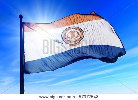 San Jose (USA) flag waving on the wind
