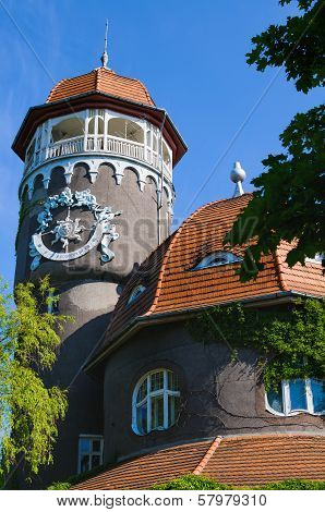 Architecture Of Svetlogorsk (earlier Rauschen). Kaliningrad Region, Russia