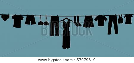 Long Clothes Line