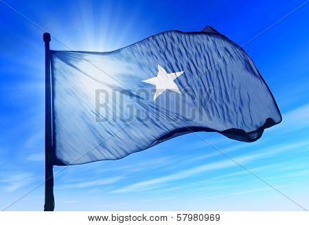 Somalia flag waving on the wind
