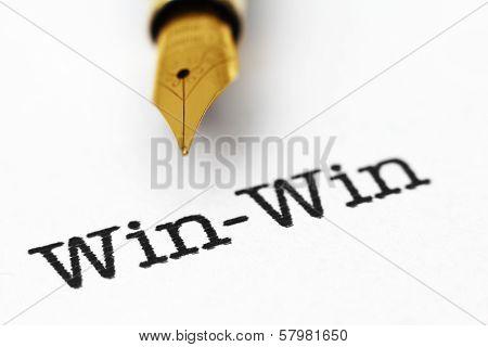 Fountain Pen On Win-win