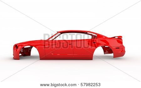 Red Body Car