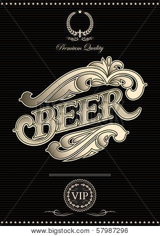 Vector Template For The Cover Of Beer Menu