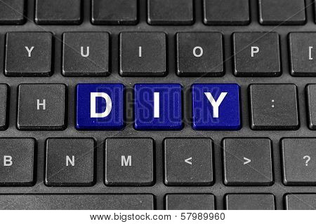 Diy Or Do It Yourself Word On Keyboard