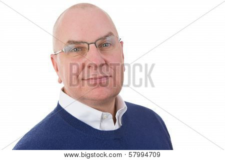 Observant Middle-aged Businessman