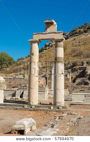 Ephesus, Turkey Remains Of The Prytaneum Temple