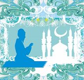 pic of dua  - abstract religious background  - JPG