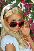 Paris Hilton  at the Launch of 'The Bandit' Hair Extension headband. Malibu Beach, Malibu, CA. 08-23