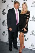 Donald Trump and Ivanka Trump  at a party to introduce the Trump Tower Dubai. The Tar Estate, Bel Ai