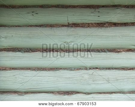 Close-up of old painted beams